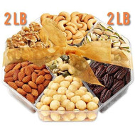 Jumbo 2Lb Gift Basket | Holiday Nuts Gift Basket - Gourmet Food Gifts Prime Delivery | Men &Amp; Women, Christmas, Mothers &Amp; Father'S Day Fruit Nut Gift Box, Assortment Tray - Birthday, Sympathy, Get Well