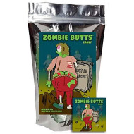 Zombie Butts Candy - Green Apple Fruit Jellies - Funny Halloween Gag Birthday Girl, Boy And Teens Gift