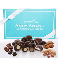 Andy Anand'S Milk &Amp; Dark Chocolate Sugar Free Bridge Mix Of Almonds, Coffee, Raisins, Peanuts 1 Lb, Amazing Taste Gift Boxed &Amp; Greeting Card Birthday Valentine Day Christmas Holiday Gifts Mothers Day