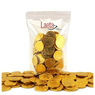 Laetafood Pack, Gold Foiled Wrapped Chocolate Coins Candy, Half Dollar Candy (1 Pound Bag)