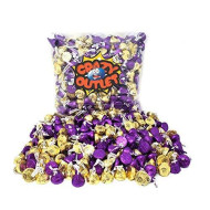 Crazyoutlet Pack - Hershey'S Kisses Mix, Dark Chocolate Kisses Purple, Kisses Milk Chocolate With Almond Gold Foils, Christmas Candy, 2Lbs