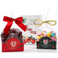 [2-Pack] Bistro'S Belgian Chocolate Jordan Almond Dragees, Christmas New Year Holiday Candy, Natural Healthy And Low Calorie, Perfect For Gifting