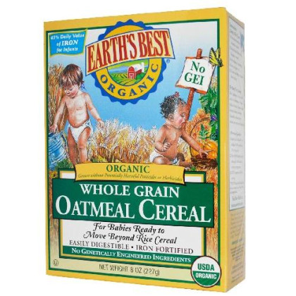 Earth'S Best Oatmeal Cereal (12X8 Oz)