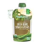 Happy Baby Clearly Crafted Green Beans, Spinach & Peas (16X4 Oz)