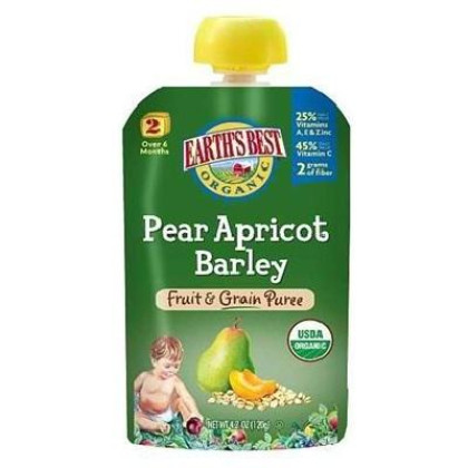 Earth'S Best Baby Foods Pear/Aprct/Barley (12X4.2Oz )