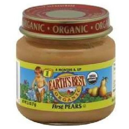 Earth'S Best Baby Foods Baby First Pears (12X2.5Oz )