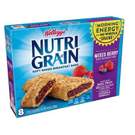 Kellogg'S Nutri-Grain, Soft Baked Breakfast Bars, Mixed Berry, Made With Whole Grain, 10.4 Oz (6 Packages Of 8 Bars)