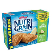 Kellogg'S Nutri-Grain, Soft Baked Breakfast Bars, Apple Cinnamon, Made With Whole Grain, Value Pack, 20.8 Oz (Pack Of 3)