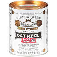 McCann's Irish Oatmeal, Traditional Steel Cut, 28 Ounce (Pack of 4)