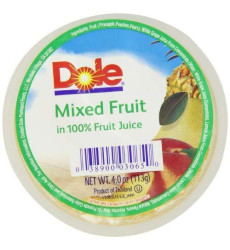Dole Fruit Bowls, Mixed Fruit In 100% Juice, 4 Ounce Cups (Pack Of 36)