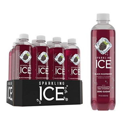 Sparkling Ice Black Raspberry Sparkling Water, With Antioxidants And Vitamins, Zero Sugar, 17 Fl. Oz Bottles (Pack Of 12)