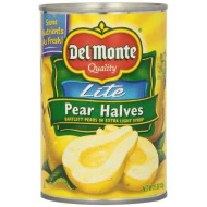 Del Monte Lite Pear Halves Bartlett Pears In Extra Light Syrup, 15-Ounce (Pack Of 8)