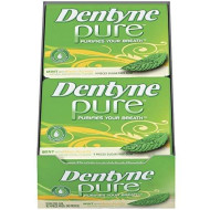 Dentyne Pure Sugar Free Gum (Mint With Melon Accents 9 Piece Pack Of 10)
