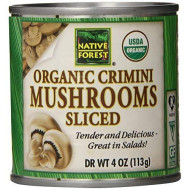 Native Forest Organic Sliced Crimini Mushrooms, 4-Ounce Cans (Pack Of 12)