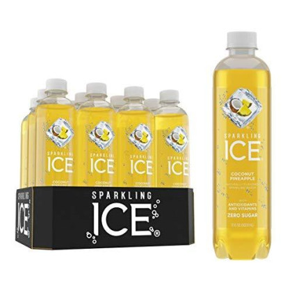 Sparkling Ice Coconut Pineapple Sparkling Water, With Antioxidants And Vitamins, Zero Sugar, 17 Fl. Oz Bottles (Pack Of 12)