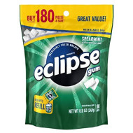 Eclipse Spearmint Sugarfree Gum, 180 Piece Bag