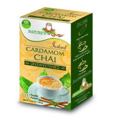 Nature'S Guru Instant Cardamom Chai Tea Drink Mix, Unsweetened, 10 Count Single Serve On-The-Go Drink Packets
