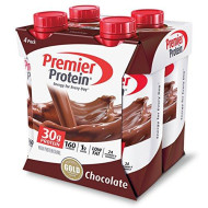 Premier Protein 30G Protein Shakes, Chocolate, 11 Fluid Ounces, 4 Per Pack
