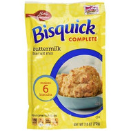 Betty Crocker Bisquick Complete Buttermilk Biscuit Mix, Just Add Water! 7.5 Oz. = 6 To 8 Biscuits (4 Pack)