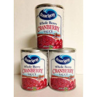 Ocean Spray Whole Berry Cranberry Sauce 14 Oz (Pack Of 3)