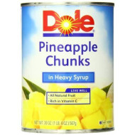 Dole Pineapple Chunks In Heavy Syrup, 20 Ounce Cans (Pack Of 12)