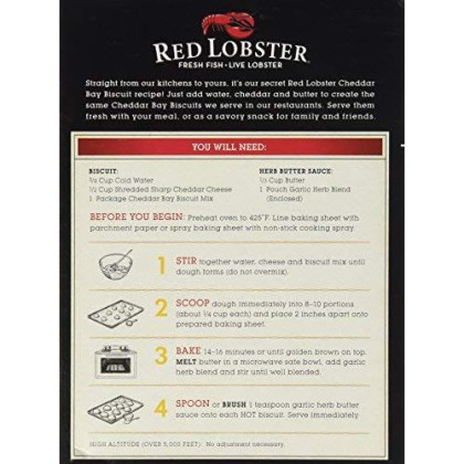 Red Lobster, Cheddar Bay Biscuit Mix , 11.36Oz Box (2 Pack)