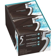 Five 15 Piece (Pack Of 10), 5 Gum Winter-Mint Ascent Sugar-Free Gum