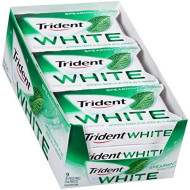 Trident White Sugarfree Gum Spearmint, 16-Piece, 12-Pack