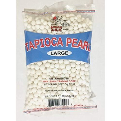 14Oz Asuka Tapioca Pearl White Large (One Bag)
