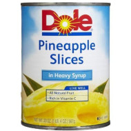 Dole Pineapple Slices In Heavy Syrup, 20-Oz Cans (Pack Of 6)