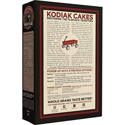 Kodiak Cakes Power Cakes: Flapjack And Waffle Mix Whole Grain Buttermilk Net Wt. 4.5 Lbs (Three 24 Ounce Pouches)