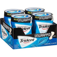 Trident Unwrapped Sugar Free Gum (Original, 50-Piece, 4-Pack)