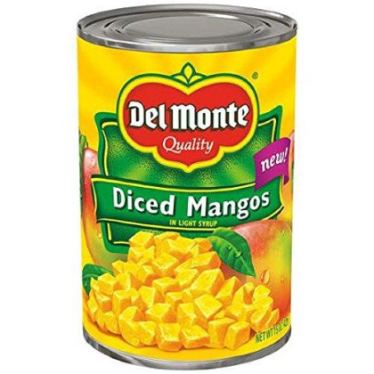 Del Monte, Diced Mangos In Light Syrup, 15Oz Can (Pack Of 6)