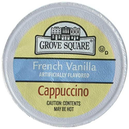 Grove Square Cappuccino, French Vanilla, 50 Single Serve Cups (Packaging May Vary)
