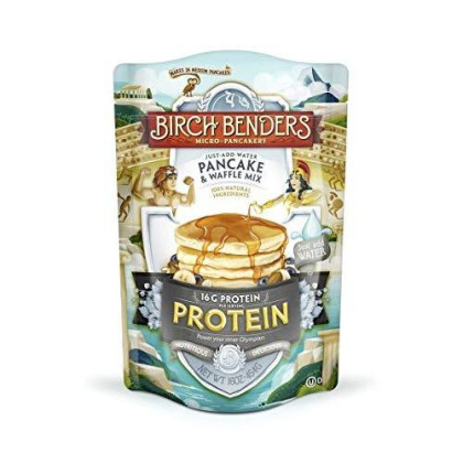 Performance Protein Pancake And Waffle Mix With Whey Protein By Birch Benders, 16 Grams Protein Per Serving, Non-Gmo Verified, 16Oz