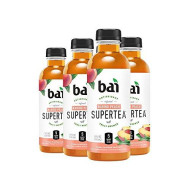 Bai Iced Tea, Narino Peach, Antioxidant Infused Supertea, Crafted with Real Tea (Black Tea, White Tea), 18 Fluid Ounce Bottles, 6 count