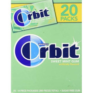 Orbit--Sweet Mint Gum--Mildly Sweet, Mint Flavored Sugarfree Chewing Gum--To Freshen Breath--20-14 Piece Packages, 280 Pieces Total