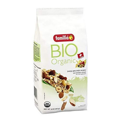 Familia Bio Organic Swiss Muesli, Fruit And Nut, 16-Ounce Bag