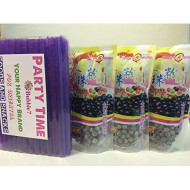 "3 Packs Of Boba (Black) Tapioca Pearl ""Bubble Tea Ingredients"" With Additonal 1 Pack Of 50 Boba Straws(Variety Color)"