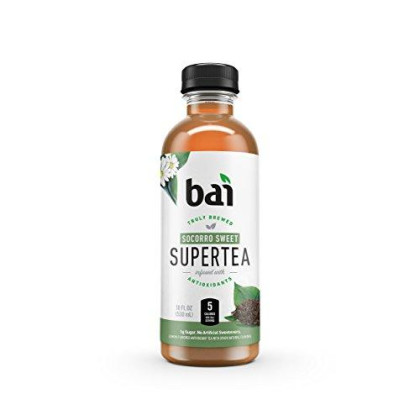Bai Iced Tea, Socorro Sweet, Antioxidant Infused Supertea, Crafted With Real Tea (Black Tea, White Tea), 18 Fluid Ounce Bottles, 12 Count