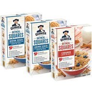 Quaker Oatmeal Squares Breakfast Cereal, Brown Sugar & Cinnamon Variety Pack (3 Pack)