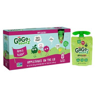 Gogo Squeez Applesauce On The Go, Apple Berry, 3.2 Ounce (12 Pouches), Gluten Free, Vegan Friendly, Healthy Snacks, Unsweetened Applesauce, Recloseable, Bpa Free Pouches