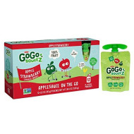 Gogo Squeez Applesauce On The Go, Apple Strawberry, 3.2 Ounce (12 Pouches), Gluten Free, Vegan Friendly, Healthy Snacks, Unsweetened Applesauce, Recloseable, Bpa Free Pouches