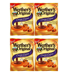 Werther'S Original New Cocoa Creme Soft Caramels 2.22 Oz (Pack Of 4)