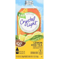 Crystal Light On The Go Sugar Free Powdered Lemon Iced Tea, 4.2 Oz Bag
