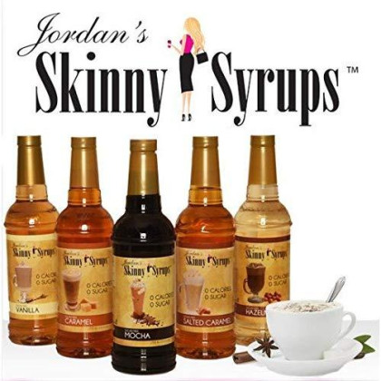 Jordan'S Skinny Syrups |  Sugar Free Mint Chocolate Chip Syrup | Healthy Flavors With 0 Calories, 0 Sugar, 0 Carbs | 750Ml/25.4Oz Bottle