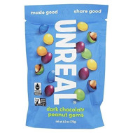 Unreal Vegan, Non-Gmo Dark Chocolate Peanut Gems - 1 Bag