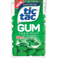 Tic Tac Sugar Free Gum, Spearmint Flavored Gum (12 Count)