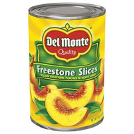 Del Monte Canned California Freestone Sliced Peaches, 15.25-Ounce (Pack Of 12)