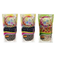 Wufuyuan Tapioca Pearls (2) Black 8.8 Oz & (1) Colorful Pearls 8.8 Oz (Pack Of 3)